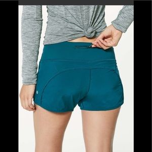 Lululemon Run Times Short 4-way Stretch Nile Blue